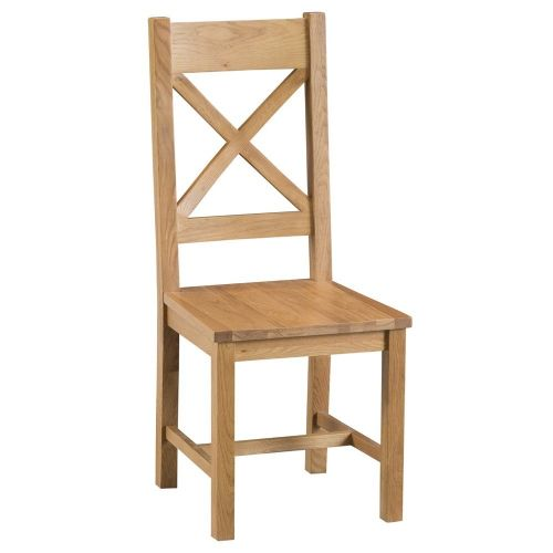 Oakham Country Cross Back Chair Wooden Seat